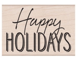 Hero Arts Rubber Stamp HAPPY HOLIDAYS MIXED FONT E6434* zoom image