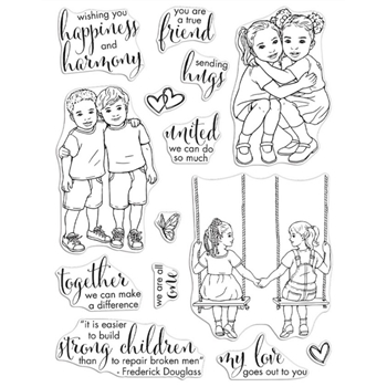 Hero Arts Clear Stamps KIDS UNITED CM481*