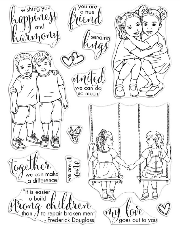 Hero Arts Clear Stamps KIDS UNITED CM481* zoom image