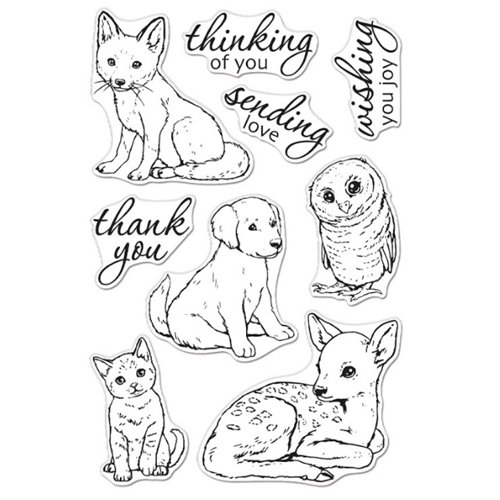 Hero Arts Clear Stamps FAWN AND FRIENDS CM470* Preview Image