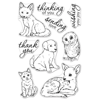 Hero Arts Clear Stamps FAWN AND FRIENDS CM470*