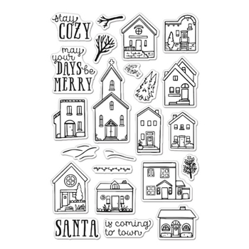 Hero Arts Clear Stamps COZY TOWN CM467