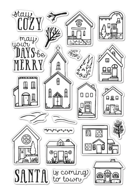 Hero Arts Clear Stamps COZY TOWN CM467 zoom image