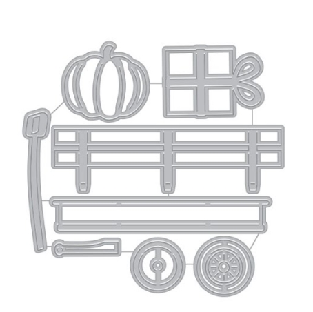 Hero Arts WAGON AND ACCESSORIES Fancy Dies DI790 zoom image