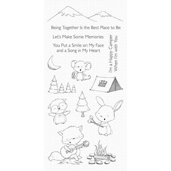 My Favorite Things HAPPY CAMPERS Clear Stamps sy21