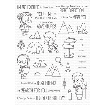 My Favorite Things ADORABLE ADVENTURES Clear Stamps bb108