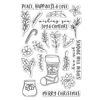 Hero Arts Clear Stamps STOCKING BOUQUET CM465