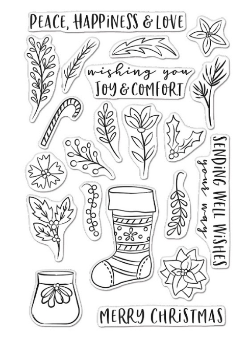 Hero Arts Clear Stamps STOCKING BOUQUET CM465 zoom image
