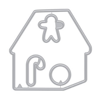 Hero Arts Frame Cuts Color Layering GINGERBREAD HOUSE Die DI796 Preview Image
