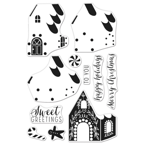 Hero Arts Clear Stamps Color Layering GINGERBREAD HOUSE CM462 Preview Image