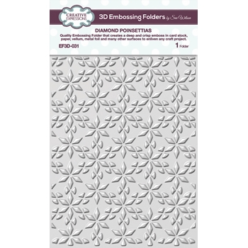 Creative Expressions DIAMOND POINSETTIAS 3D Embossing Folder by Sue Wilson ef3d031