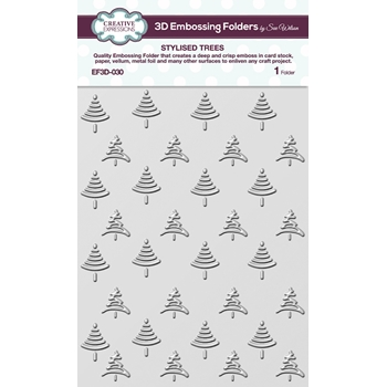 Creative Expressions STYLIZED TREES 3D Embossing Folder by Sue Wilson ef3d030