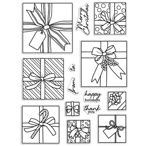 Hero Arts Clear Stamps GIFT PEEK A BOO Infinity Parts CM463 Preview Image