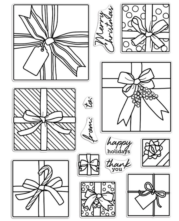 Hero Arts Clear Stamps GIFT PEEK A BOO Infinity Parts CM463 zoom image