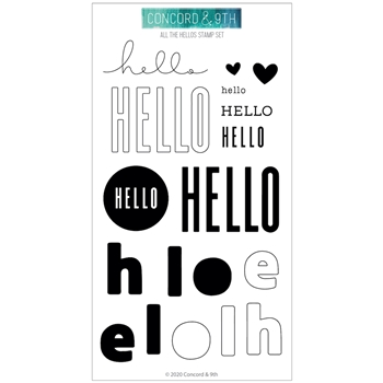 RESERVE Concord & 9th ALL THE HELLOS Clear Stamp Set 10798