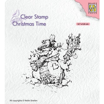 Nellie's Choice SNOWMAN Clear Stamp ct034*