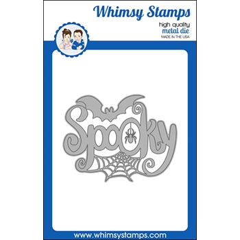 Whimsy Stamps SPOOKY LARGE WORD Die WSD480