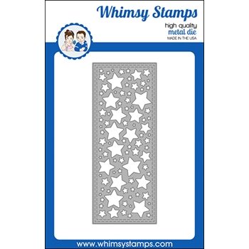 Whimsy Stamps SLIMLINE STARS BACKGROUND Die WSD479