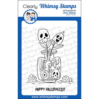 Whimsy Stamps HALLOWEEDS Clear Stamp CWSD332