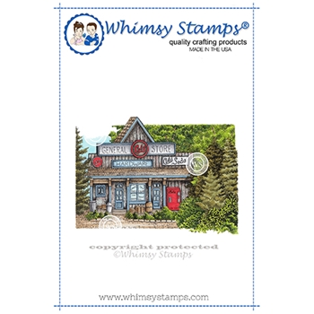 Whimsy Stamps GENERAL STORE Cling Stamp DA1146