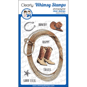 Whimsy Stamps COWPOKE Clear Stamps DA1145