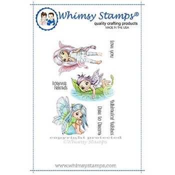 Whimsy Stamps FAIRY DREAMS Cling Stamps C1361