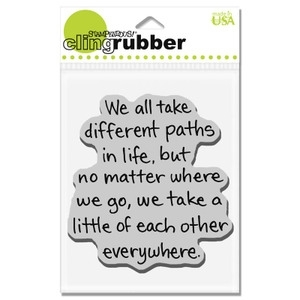 Stampendous Cling Stamp LIFE PATH Rubber UM crv151 Preview Image