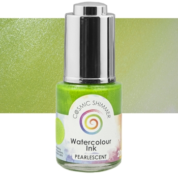Cosmic Shimmer PEARLESCENT LIME SHERBET Watercolor Ink cspwilime