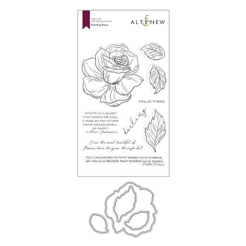 Altenew DARLING ROSE Clear Stamp and Die Bundle ALT4377 Preview Image