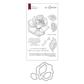 Altenew DARLING ROSE Clear Stamp and Die Bundle ALT4377