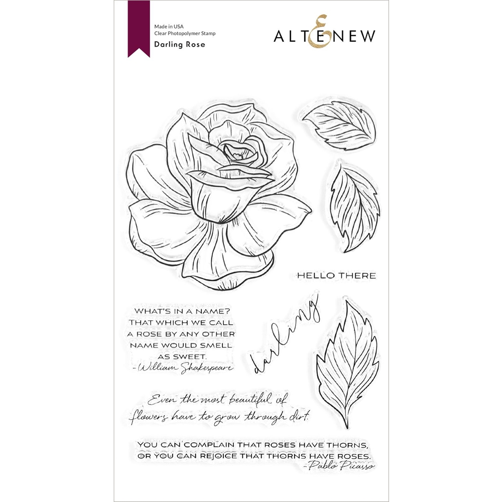 Altenew DARLING ROSE Clear Stamps ALT4374 zoom image