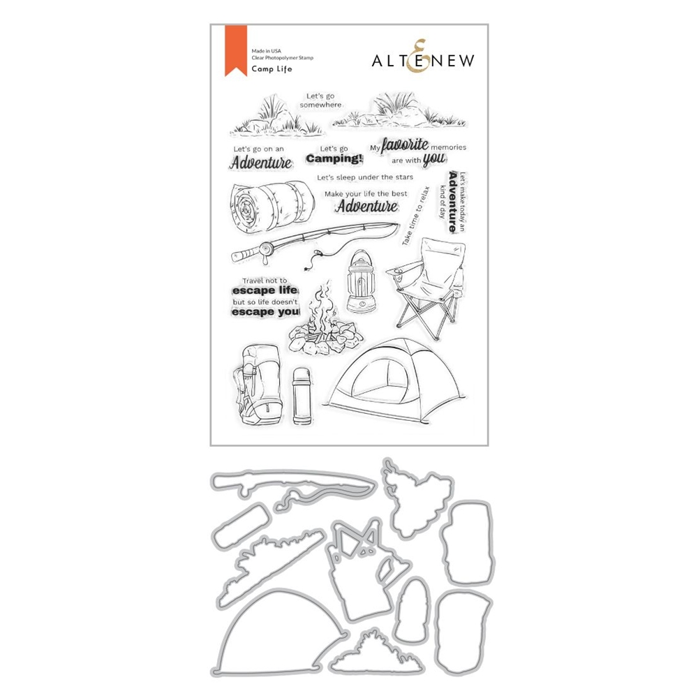 Altenew CAMP LIFE Clear Stamp and Die Bundle ALT4373 zoom image
