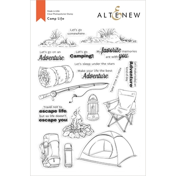 Altenew CAMP LIFE Clear Stamps ALT4371