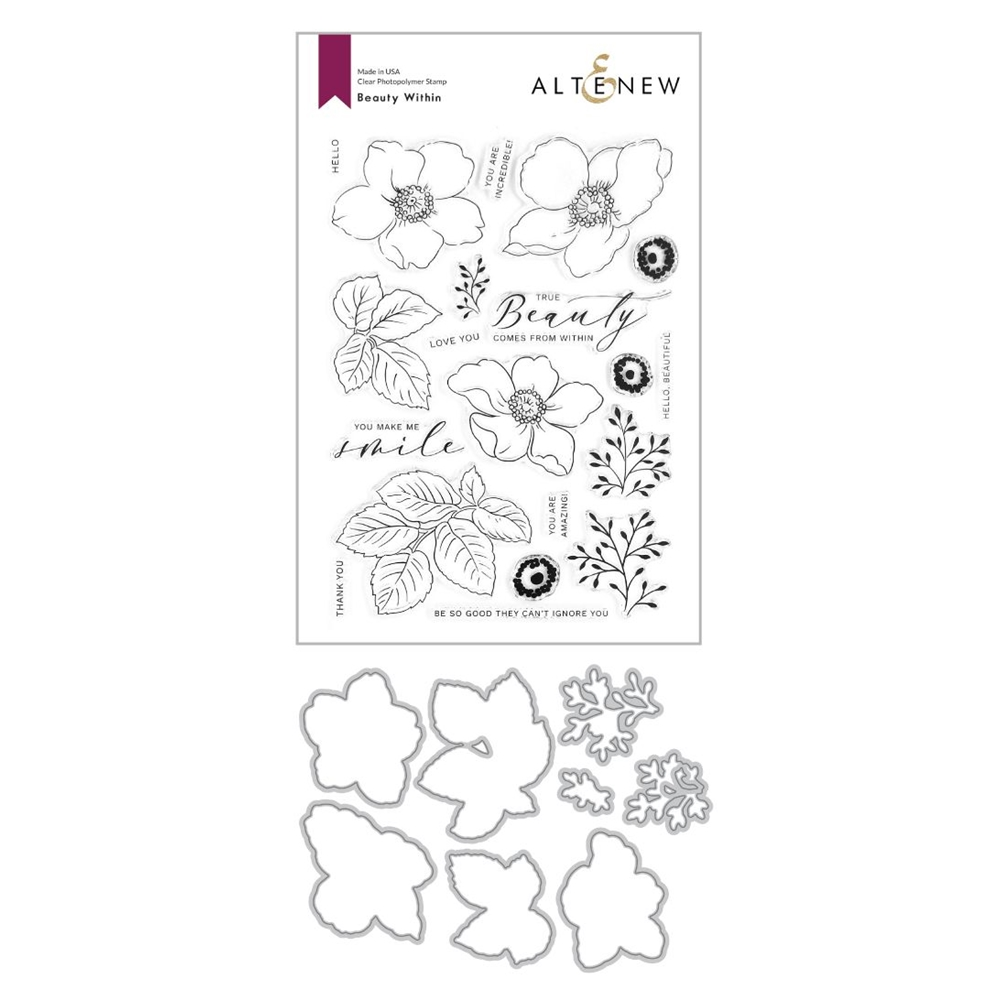 Altenew BEAUTY WITHIN Clear Stamp and Die Bundle ALT4369 zoom image