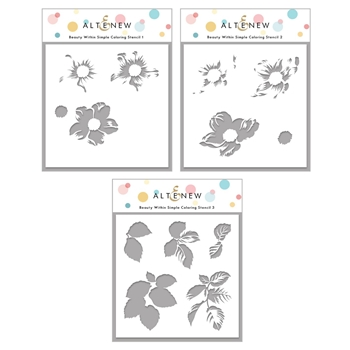 Altenew BEAUTY WITHIN Simple Coloring Stencil Set ALT4368