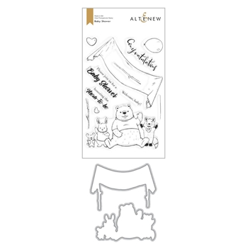 Altenew BABY SHOWER Clear Stamp and Die Bundle ALT4365