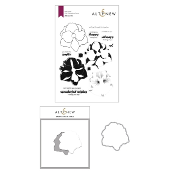 Altenew AMARYLLIS Clear Stamp, Die and Mask Stencil Bundle ALT4362BN2