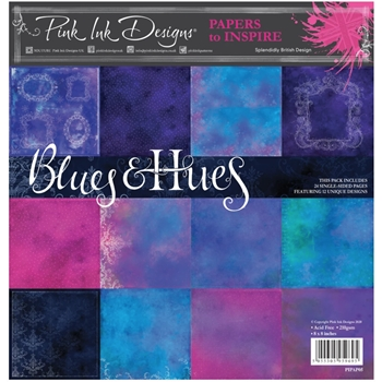 Pink Ink Designs BLUE AND HUES 8 x 8 Paper Pack pipap05
