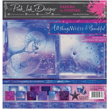 Pink Ink Designs ALL THINGS WHITE AND BEAUTIFUL 8 x 8 Paper Pack pipap03