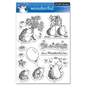 Penny Black Clear Stamps WONDERFUL Hedgy Birthday 30 029 Hedgehog Preview Image