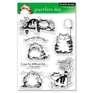 Penny Black Clear Stamps PURRFECT DAY 30-027*