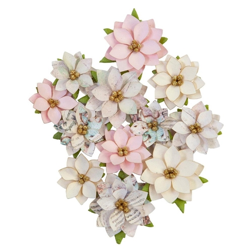 Prima Marketing GLITTERY SNOW Sugar Cookie Christmas Flowers 648510 Preview Image