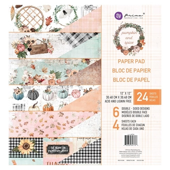 Prima Marketing PUMPKIN AND SPICE 12 x 12 Paper Pad 647766