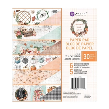 Prima Marketing PUMPKIN AND SPICE 6 x 6 Paper Pad 647773