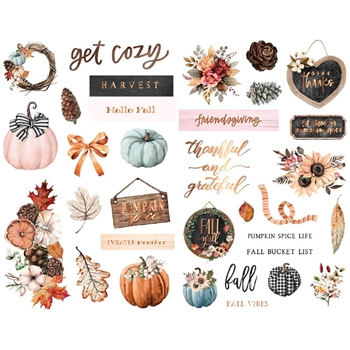 Prima Marketing PUMPKIN AND SPICE Chipboard Stickers 647810