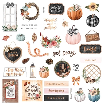 Prima Marketing PUMPKIN AND SPICE Ephemera 647834