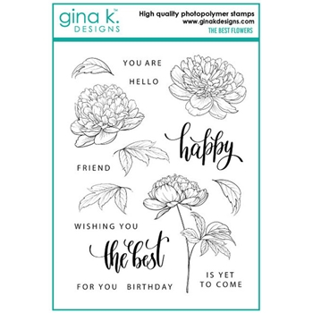 Gina K Designs THE BEST FLOWERS Clear Stamps 6552