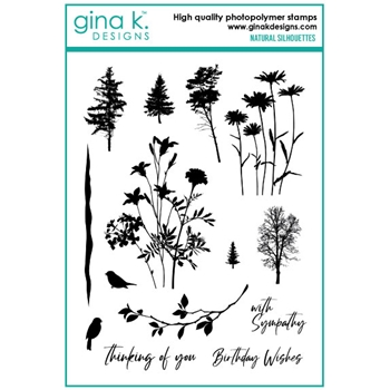 Gina K Designs NATURAL SILHOUETTES Clear Stamps 6545