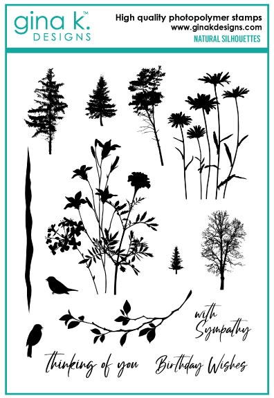 Gina K Designs NATURAL SILHOUETTES Clear Stamps 6545 zoom image