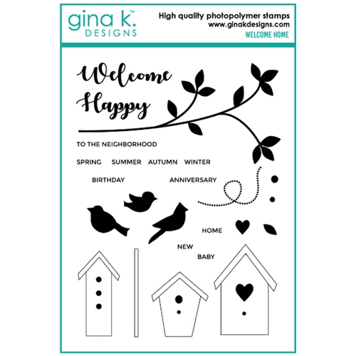 Gina K Designs WELCOME HOME Clear Stamps 6712 Preview Image